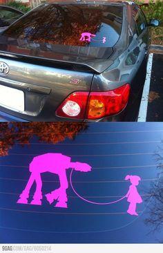 Sweet Star Wars car sticker