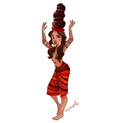 It's week 2 of my of color. Here's a lady from the Kalinga tribe Philippine Mythology, Philippine Art, Filipino Art, Filipino Culture, Philippines Tattoo, Baybayin, Filipino Fashion, Filipino Tribal Tattoos, Philippines Culture