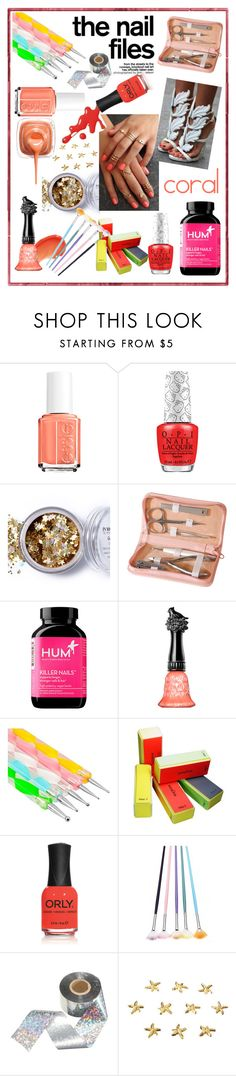 """""""THE NAIL FILES: CORAL!!!!"""" by kskafida ❤ liked on Polyvore featuring beauty, Essie, In Your Dreams, Royce Leather, Hum Nutrition, Anna Sui and Zodaca"""
