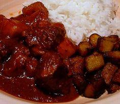 Mole with Chicken, Pork, and Pineapple (Manchamanteles de Cerdo y Pollo)
