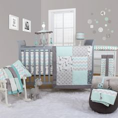 Peanut Shell Uptown Giraffe 5 Piece Bedding Set