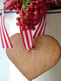 gingerbread ornament - Christmas (My grandmother hung cookies like this on her Christmas tree).