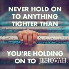 Life is hard sometimes. We must always trust in Jehovah.