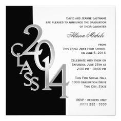34 best graduation invitations images on pinterest graduation silver black 2014 photo graduation invitation filmwisefo