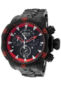 Invicta Men's Venom Reserve Chronograph Black Dial and Stainless Steel BraceletInvicta 1599 Watch