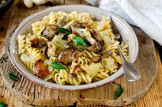 #Vegan and #glutenfree Fennel and Mushroom Pasta made with Massel vegetable or chicken style stock. #recipe #lowsugar #kosher #vegetarian