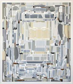 FUGUE, 2015 I Acrylic polymer on incised eucalyptus masonite I 74 x 64 inches