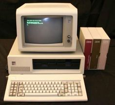 We saw the first computers at school. It was similar to this one and all we did was play a game of ball with a slider.