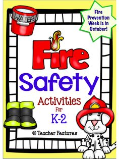 """Be ready for Fire Prevention Week! Designed to supplement your lessons or provide a starting point, this packet contains math and literacy activities that carry on the Fire Prevention theme. (17 pages) - """"Finish the Sentence"""" Task Cards (pg. 3) - Fire Safety: Sentence Parts Matching and Recording Sheet (pgs. 4-6) - """"My Fire Safety Book: Interactive"""" (pgs. 7-111) - """"Cover The Ladder"""" game (pg. 12) - """"Put the Fire Out"""" game (pg. 13)"""