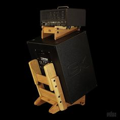 Atlas Stands Black Cherry Standard Series Low Rider Amp Stand with Table Top for separate amp head.