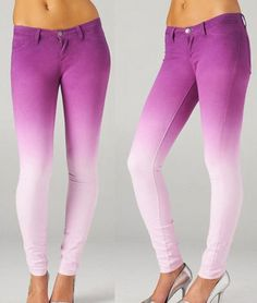 Purple ombré jeans