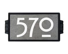 CAN_The Tile and Iron Studio Enhance the curb appeal of your home with a personalized custom made address plaque from the tile and iron studio. Customize: Yes, Plaque Colour: Concrete Grey Craftsman House Numbers, Tile House Numbers, Address Plaque, Garden Signs, Home Decor Shops, Concrete, Iron, Wall, Etsy