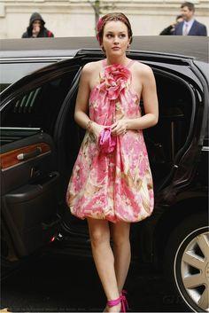 Blair Waldorf wedding bridesmaid halter flower dress collette dinnigan