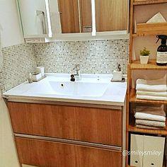 バス/トイレ/EIDAI/永大産業/タオル収納/タオルハンガー...などのインテリア実例 - 2017-01-14 02:09:07 | RoomClip(ルームクリップ) Corner Bathtub, Double Vanity, Sink, Bathroom, Home Decor, Bath Room, Homemade Home Decor, Vessel Sink, Sink Tops