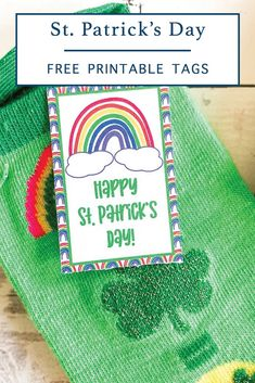 St. Patrick's Day Rainbow Printable - Everyday Party Magazine