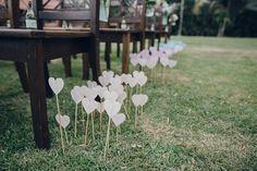 decoração simples e linda para um casamento no campo ♡