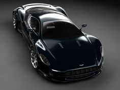 Sinister Black Aston Martin Supercar. WOW!