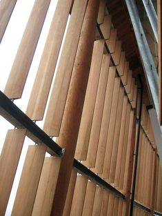 Find out all of the information about the Power Wood Corp. Contact a supplier or the parent company directly to get a quote or to find out a price or your closest point of sale. Arch Building, Building Skin, Building Facade, Screen Design, Facade Design, Exterior Design, Wooden Cladding, Wooden Facade, Wood Architecture