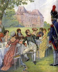 Napoleone ad un pranzo campestre -Jacques Onfroy de Bréville