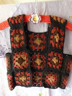 I hope the vest I am crocheting will somewhat resemble this