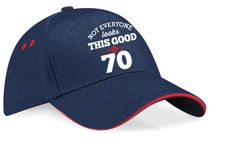 Not Everyone looks this good, 70th Birthday, 1947 Birthday, 70th Birthday Gift, Vintage Embroidered Hat, 70th Birthday Idea, 70 Years Old, 70 Birthday Gift