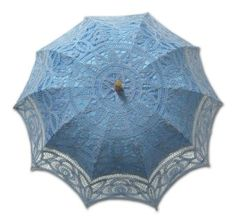 Blue parasol.  I'll find someplace to work this in!