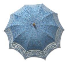 Amazon.com: Adult Battenburg Lace Parasol Umbrella in Assorted Colors Simple Colors: Ivory: Clothing