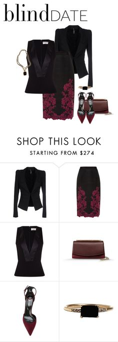 """What to Wear: Blind Date"" by eva-kouliaridou ❤ liked on Polyvore featuring Liviana Conti, Ted Baker, Balenciaga, Sergio Rossi, LUMO, David Yurman, women's clothing, women, female and woman"