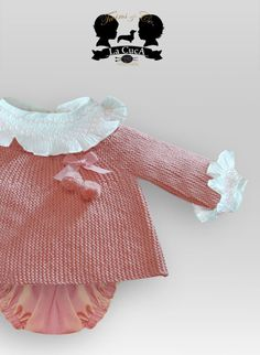 La Cuca Little Girl Fashion, My Little Girl, Knitting For Kids, Baby Knitting, Smocking Baby, Tricot Baby, Baby Sewing, Crochet Clothes, Kids Outfits