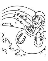 A Pot of Gold coloring page  http://www.crayola.com/free-coloring-pages.aspx#