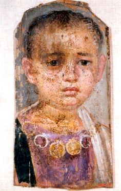 CE) Funerary Portrait of a Little Girl Ancient Rome, Ancient History, Cairo, Rome Antique, Egyptian Mummies, Egyptian Goddess, Roman Art, Encaustic Painting, Ancient Artifacts