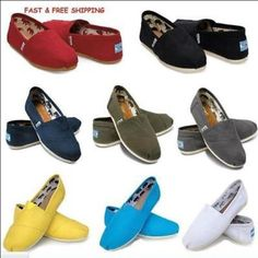 Women Classics TOM Loafers Canvas Slip-On Flats shoes Size 5-10 #Unbranded #LoafersMoccasins
