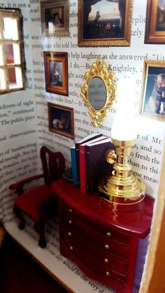 Altered Book Box: Mini Room Night Light by SuitcaseDollhouse