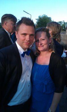 Brudens søster Kristina med sin Leon.
