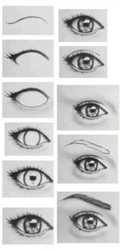 Practically Explained Different Eye Drawing Techniques 1 - Art Drawings Realistic Eye Drawing, Drawing Eyes, Drawing Sketches, Cool Drawings, Painting & Drawing, Eye Sketch, Pencil Painting, Pencil Drawings Of Eyes, Sketches Of Eyes