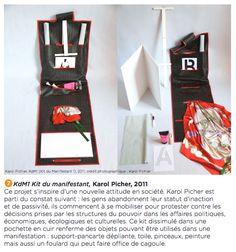 Un kit pour manifestant... ironie, design manifeste ou vrai gadget ? (Biennale Saint Etienne 2013)