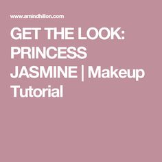Growing up, I loved the movie Aladdin and I always wanted to be Princess Jasmine for Easy Makeup Tutorial, Makeup Tutorials, Princess Jasmine Makeup, Simple Makeup, Get The Look, Beauty Makeup, Tips, Make Up Tutorial