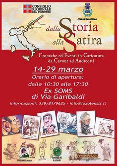 """""""DALLA STORIA ALLA SATIRA"""" info: http://www.informagiovanicossato.it/on-line/Home/articolo63013513.html"""
