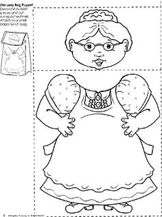 """Free Printable Old Lady 