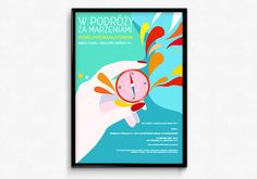 Poster for solo female travelers meetings on Behance