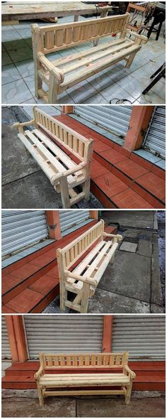 A much royal and brilliant design of the wood pallet bench is all here! Almost all the bench structural designs are shaded with the hard rustic wood pallet use within it. You can have this bench be either simple or you can add it upon with the paint color hues effect too.