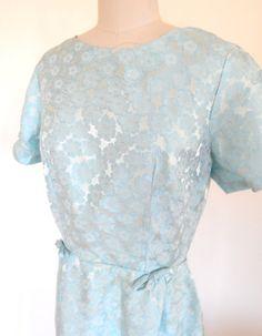 Pretty Vintage 1950s Light Blue Floral Acetate by VintageZipper
