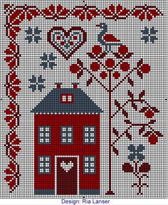 Ria Lanser cross-stitch - free