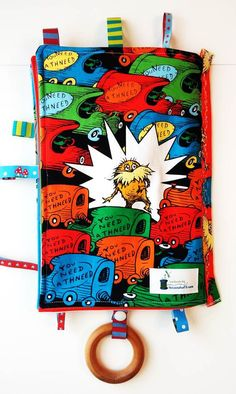 ORGANIC Dr. Seuss' The Lorax Cloth Baby Book by TheSeedsof3