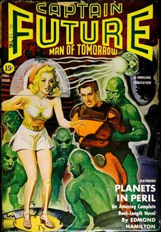 Captain Future Vol. 4, No. 3 (Fall, 1942).  Cover Art by Rudolph Belarski