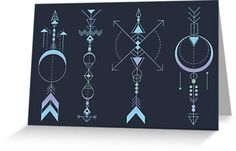 Geometric Arrows - Native American Sioux by #Beatrizxe   #redbubble #card. Illustration of four geometric arrows inspired in the symbol of the four medicine arrows. North is knowledge, south is innocence, east is prudence and west is introspection (see within oneself) #arrow #arrows #geometry #geometric #geometrical #tattoo #indian #native #american #sioux #armony #north #south #east #west #knowledge #innocence #prudence #introspection#vector #time #abstract #carpediem