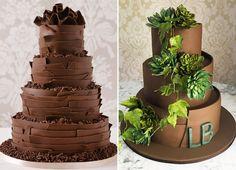 12 ideias de bolos de chocolate para a festa de 15 anos - Constance Zahn | 15 anos