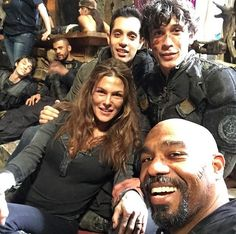 Behind the scenes of #The100 posted by #MikeABeach on IG