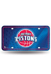 Detroit Pistons Blue Metal Car Accessory License Plate