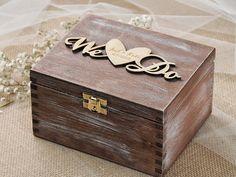 Wir tun Ehering Box rustikalen Ring Bearer Box von forlovepolkadots
